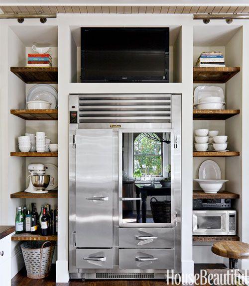 Kitchen shelves transitional kitchen house beautiful - Beautiful photoshelves ...