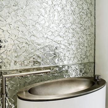 Shard Mirror Backsplash, Contemporary, bathroom, Black Mountain Development