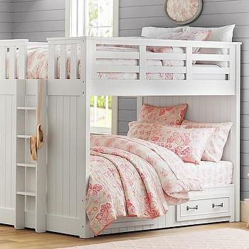Beds/Headboards - Belden Full-Over-Full Bunk | Pottery Barn Kids - beadboard bunk bed, white beadboard bunk bed, beadboard paneled bunk bed,