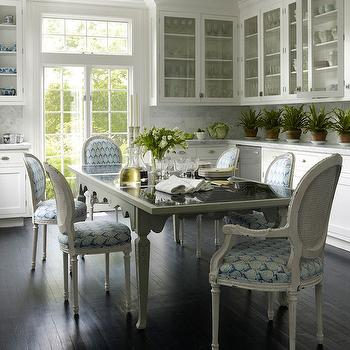 White Paint Colors, Transitional, kitchen, Benjamin Moore Chantilly Lace, Elle Decor