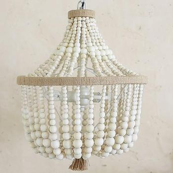 Lighting - Dahlia Chandelier | Pottery Barn Kids - beaded chandelier, white beaded chandelier, kids beaded chandelier, neutral beaded chandelier, monochromatic beaded chandelier,