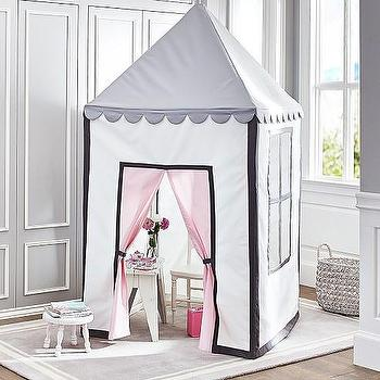 Decor/Accessories - Tea Party Playhouse | Pottery Barn Kids - pink and gray playhouse, playhouse tent, fabric playhouse, pink and gray fabric playhouse,