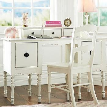 Storage Furniture - Ella Desk & Hutch | Pottery Barn Kids - kids sized white desk, kid sized desk with hutch, child sized desk with hutch, traditional kids desk with hutch,
