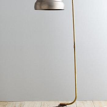 Lighting - Steamer Floor Lamp I Garnet Hill - industrial floor lamp, vintage industrial floor lamp, industrial metal floor lamp,