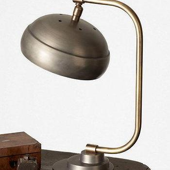 Lighting - Steamer Desk Lamp I Garnet Hill - industrial desk lamp, vintage industrial desk lamp, metal industrial desk lamp,