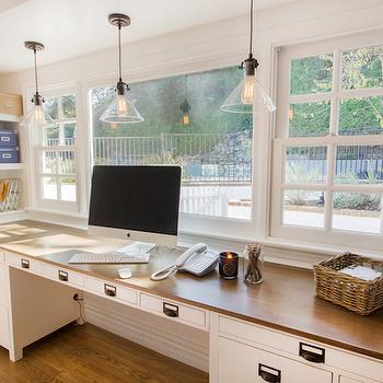 Built In Desks, Cottage, den/library/office, Thea Home Inc