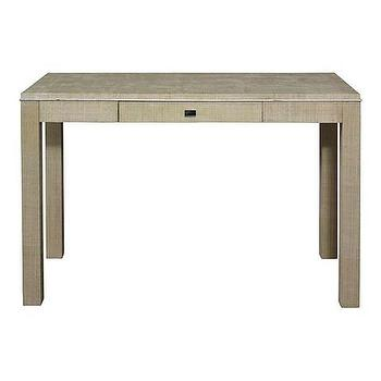 Tables - Raffia Wrapped Parsons Desk I Bassett Furniture - rafia parsons desk, rafia wrapped desk, contemporary rafia desk,