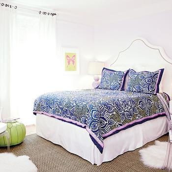 Teen Vogue - girl's rooms - lilac walls, lilac paint, lilac wall paint, lilac paint colors, studded headboard, white studded headboard, nailhead headboard, white nailhead headboard, mosaic tile bedding, mosaic tile shams, mosaic tile duvet, pink and navy bedding, kids bedding, teen bedding, pink and navy shams, pink and navy duvet, parsons nightstands, parsons bedside tables, white bedside tables, white lacquer nightstands, west elm nightstands, double gourd lamps, lilac table lamps, lilac double gourd lamps, lavender table lamps,