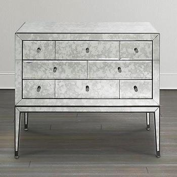 Storage Furniture - Mirrored Bachelor's Chest I Bassett Furniture - mirrored chest, contemporary mirrored chest, antiqued mirrored chest,