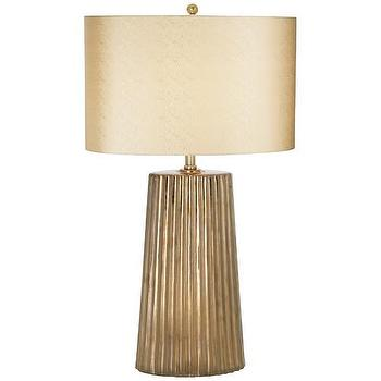 Lighting - Pacific Coast Lighting Kathy Ireland Gallery Tangiers Table Lamp | Wayfair - copper glazed table lamp, fluted metallic table lamp, metallic copper table lamp,