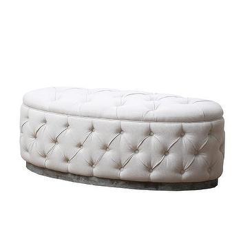 Storage Furniture - Beachwood Ottoman Bench | Wayfair - linen ottoman bench, tufted linen ottoman, beige tufted linen ottoman, oval linen tufted ottoman,