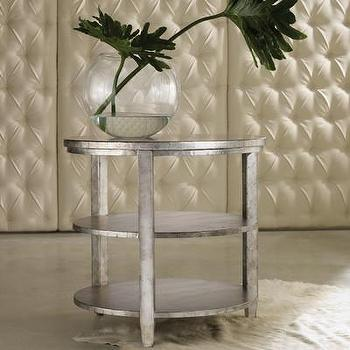 Tables - Hooker Furniture Melange Maverick End Table | Wayfair - aluminum round end table, silver round end table, silver round side table, silver end table with shelves,