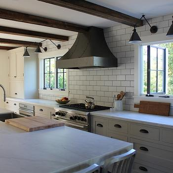 Honed Calacatta Marble Countertops, Cottage, kitchen, FarmHouseUrban