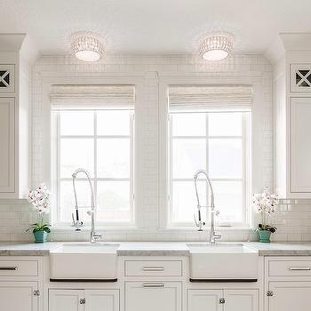 Double Kitchen Sinks, Transitional, kitchen, Benjamin Blackwelder Cabinetry