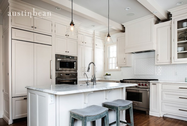 Austin Bean Design Studio Kitchens Double Ovens Ivory Cabinets