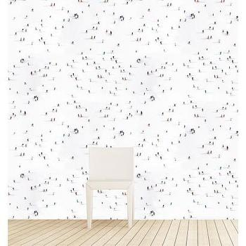 Skiers on Aspen Mountain Wallpaper I Gray Malin