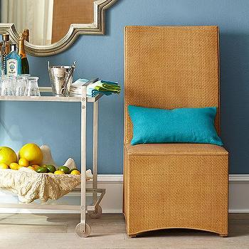 Seating - Woven Parsons Chair | Wisteria - woven parsons chair, rattan parsons chair, woven dining chair,