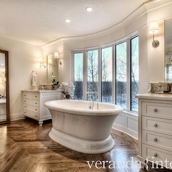 Bathroom Floor Mirror, Transitional, bathroom, Veranda Interiors