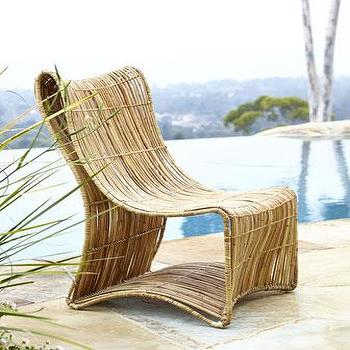 Seating - Eco-Logic Woven Chair I Neiman Marcus - modern rattan chair, woven rattan chair, curvy rattan chair, armless rattan chair,