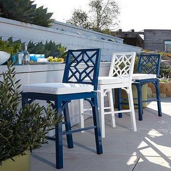 Seating - Chinoiserie Barstool I Neiman Marcus - chinoiserie style barstool, outdoor chinoiserie style barstool, white chinoiserie style barstool, blue chinoiserie style barstool,