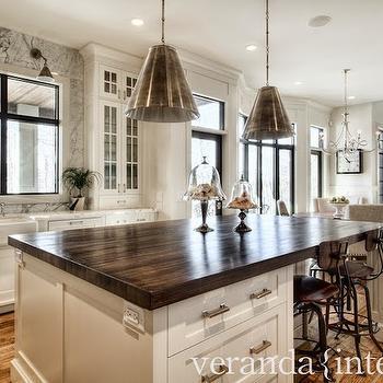 Butcher Block Island Countertop, Transitional, kitchen, Veranda Interiors