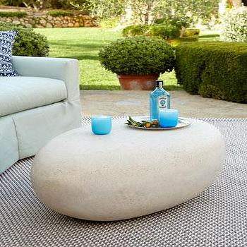 Tables - Riverstone Outdoor Table I Neiman Marcus - pebble shaped table, pebble shape coffee table, pebble shaped outdoor table,