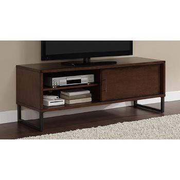 Storage Furniture - 54-inch Breckenridge Walnut Entertainment Center | Overstock.com - modern walnut media console, contemporary walnut media stand, metal and walnut media console,