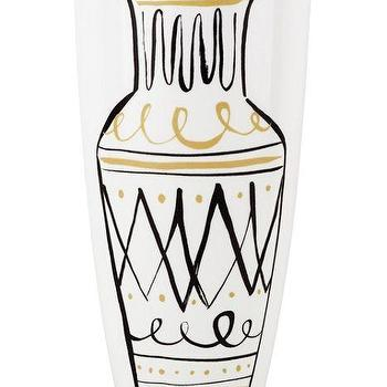 Decor/Accessories - Daisy Place Chinoiserie Vase I kate spade new york - black and gold vase, black white and gold vase, black and gold chinoiserie vase, chinoiserie vase,