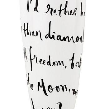 Decor/Accessories - Daisy Place Vase I kate spade new york - id rather have roses vase, rather have roses than diamonds vase, kate spade vase,