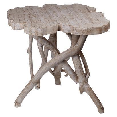weathered stump accent table i target. Black Bedroom Furniture Sets. Home Design Ideas