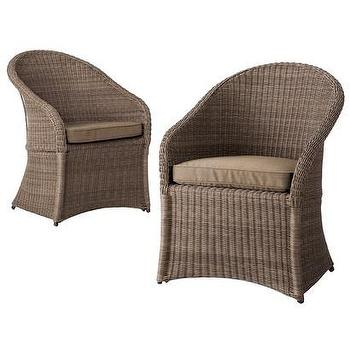 Seating - Threshold Holden 2-Piece Wicker Patio Dining Chair I  Target - rattan patio chair, rattan accent chair, wicker patio chair, wicker outdoor dining chair,