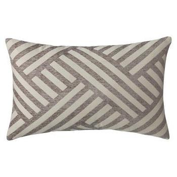 Pillows - Threshold Oblong Basketweave Toss Pillow - Gray I Target - gray geometric pillow, gray basketweave pillow, gray and ivory accent pillow,