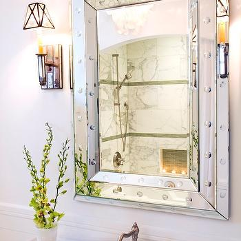 Rivet Mirror, Transitional, bathroom, Brittney Nielsen Interior Design