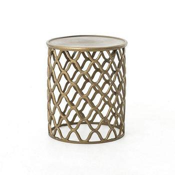 Seating - Tangier Bronze Stool | West Elm - bronze stool, moroccan stool, bronze moroccan stool,