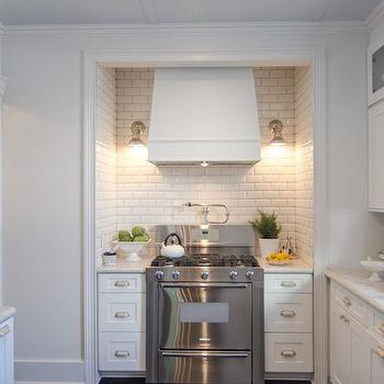 Stove Alcove, Transitional, kitchen