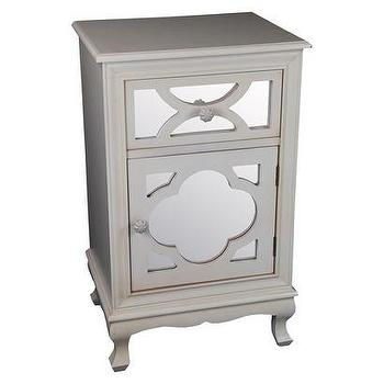 Storage Furniture - Mirrored Lattice Accent Table I Target - gray mirrored accent table, gray mirror front accent table, gray mirrored quatrefoil chest,