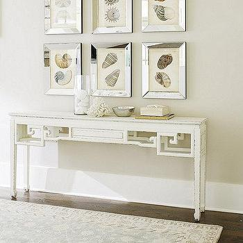 Tables - Lily Console | Ballard Designs - white asian consoke table, asian style accent table,