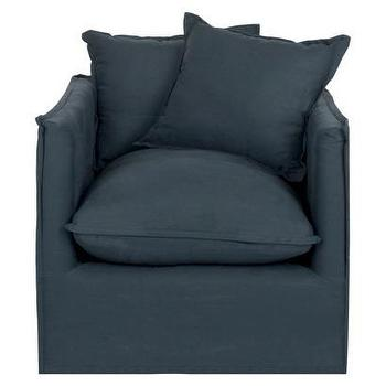 Seating - Safavieh Tioga Arm Chair - Navy I Target - navy armchair, navy slipcovered armchair, navy blue slipcovered chair,