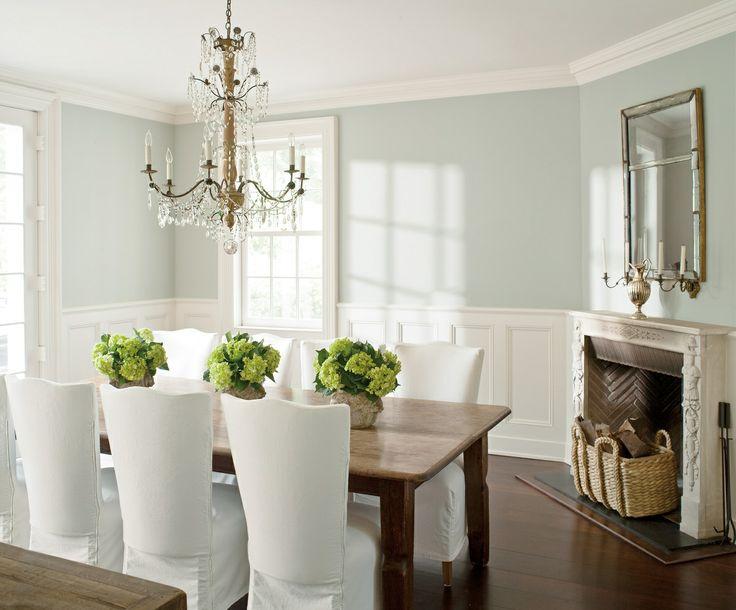 Corner fireplace cottage dining room benjamin moore for Dining room kitchen paint colors