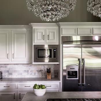 Honed Carrera Countertops, Transitional, kitchen, Paloma Contreras