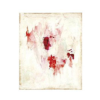 Art/Wall Decor - Raspberry Dream Art | Ballard Designs - pink and white art, pink and white modern art, pink and white abstract art,