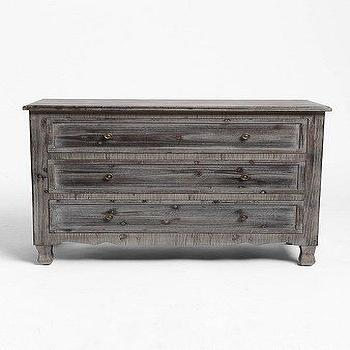 Storage Furniture - Classic 3-Drawer Dresser I Urban Outfitters - weathered gray dresser, weathered 3 drawer dresser, rustic gray dresser, weathered three drawer dresser,