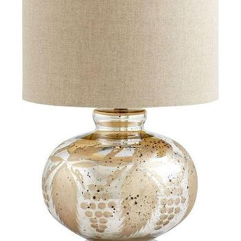 Lighting - Santika Table Lamp | Z Gallerie - floral mercury glass lamp, botanical mercury glass lamp, gold mercury glass lamp,