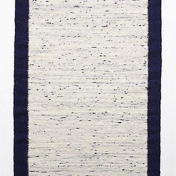 Rugs - Pasha Border Rug I anthropologie.com - navy and white rug, navy blue bordered rug, navy bordered white rug,