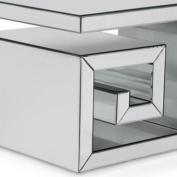 Tables - Eternal Cube End Table | Z Gallerie - mirrored greek key side table, mirrored greek key end table, greek key end table, mirrored cube end table,