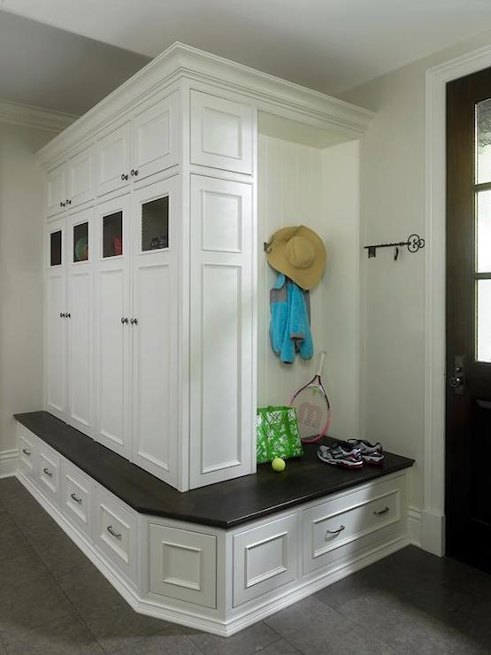 Built In Mudroom Cabinets Traditional Kitchen