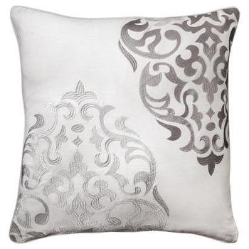 Pillows - MudhutHope Embroidered Medallion Pillow I Target - gray medallion pillow, medallion embroidered pillow, gray and white medallion pillow,