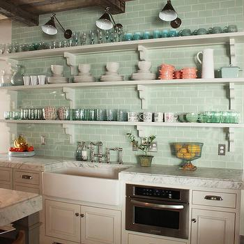 Stacked Kitchen Shelves, Country, kitchen, Decor de Provence