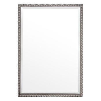 Mirrors - Alexis Mirror | Z Gallerie - beaded rectangular mirror, beaded wall mirror, silver beaded mirror,