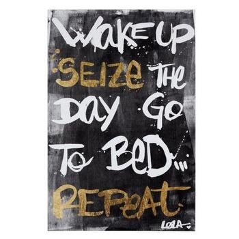 Art/Wall Decor - Wake Seize Repeat | Z Gallerie - seize the day wall art, seize the day pop art, seize the day modern art,